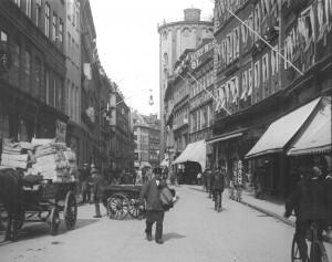 Købmagergade umleið 1900